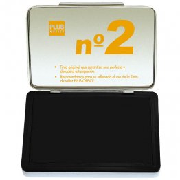 Almohadillas para sellar Plus Office Nº 2 Negro 80x125mm