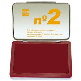 Almohadillas para sellar Plus Office Nº 2 Rojo 80x125mm