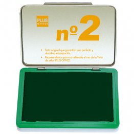 Almohadillas para sellar Plus Office Nº 2 Verde 80x125mm