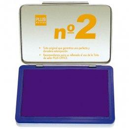 Almohadillas para sellar Plus Office Nº 2 Violeta 80x125mm