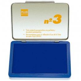 Almohadillas para sellar Plus Office Nº 3 Azul 70x105mm