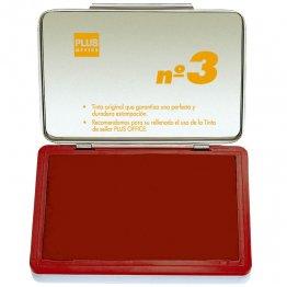 Almohadillas para sellar Plus Office Nº 3 Rojo 70x105mm