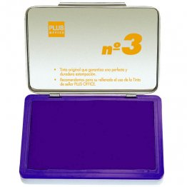 Almohadillas para sellar Plus Office Nº 3 Violeta 70x105mm