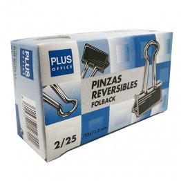 Pinzas sujetapapeles reversibles Plus Office 10mm nº25