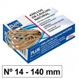Gomas elásticas Plus Office Nº14 Caja de 100gr.