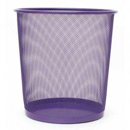 Papelera metálica violeta