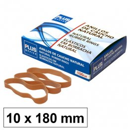 Bandas elásticas Plus Office 180mm x 10mm Caja 100gr