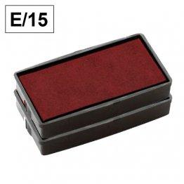 Almohadillas de recambio Colop para Printer E 15 rectangular Rojo