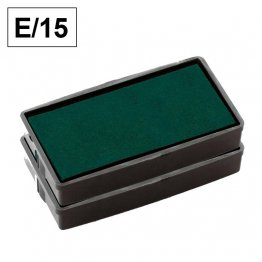 Almohadillas de recambio Colop para Printer E 15 rectangular Verde