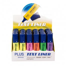 Rotulador Fluorescente Plus Office Text Liner Expositor 36 unidades