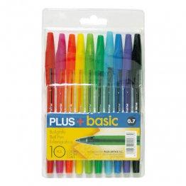 Bolígrafo Plus + Basic 10 colores