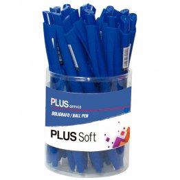 Bolígrafo Plus Soft Azul Bote 25 unid
