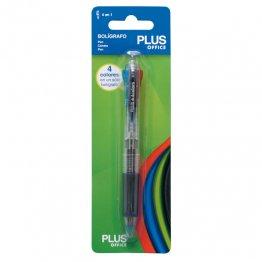 Bolígrafo Plus Office 4 colores en 1