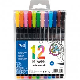 Rotulador Plus Office Extrafine 12 colores