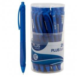 Bolígrafo Plus Soft Bote 25 unid Azul