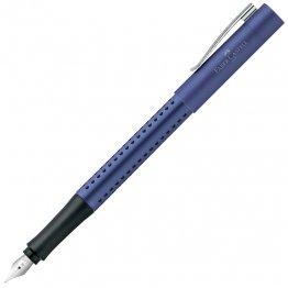 Pluma Faber Grip 2011 azul metálico