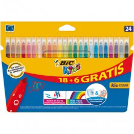 Rotulador Bic Kids Coleur 18+6 colores