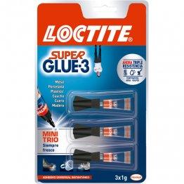 Pegamento Loctite Super Glue Minitrio 3 x 1 gr