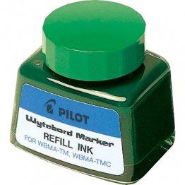 Tinta para marcador de pizarra blanca de Pilot verde 30 ml.