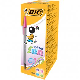 Bolígrafo BIC Cristal Fun 5 colores surtidos Expositor