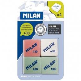 Goma de borrar Milan 430 blister de 4 gomas