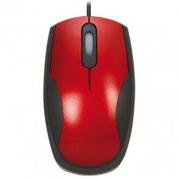 Ratón óptico Plus rojo/negro