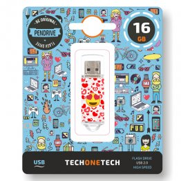 Pen drive Tech1Tech 16 Gb Heart Eyes