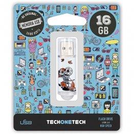Pen drive Tech1Tech 16 Gb Calavera Moto
