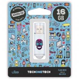 Pen drive Tech1Tech 16 Gb Calavera Maya