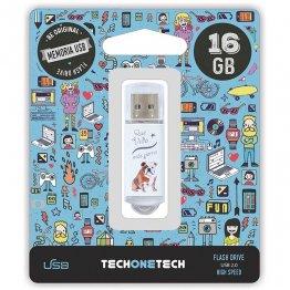 Pen drive Tech1Tech 16 Gb Qué vida más perra
