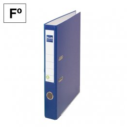 Archivador cartón forrado Plus Office E1R Folio 50mm Azul