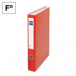 Archivador cartón forrado Plus Office E1R Folio 50mm Rojo