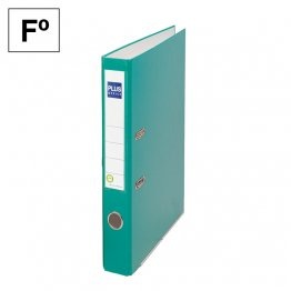 Archivador cartón forrado Plus Office E1R Folio 50mm Verde