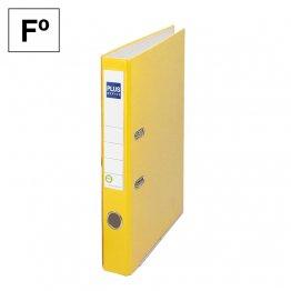 Archivador cartón forrado Plus Office E1R Folio 50mm Amarillo
