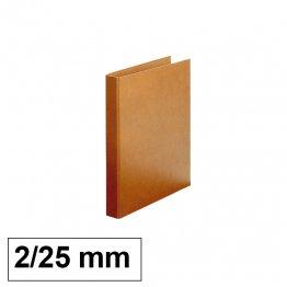 Carpeta Cartón forrado Makro Paper Luxe 2 anillas 25mm cuarto natural