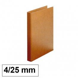 Carpeta Cartón forrado Makro Paper Luxe 4 anillas 25mm folio natural