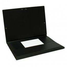 Carpeta PVC Folio gomas y solapas negro