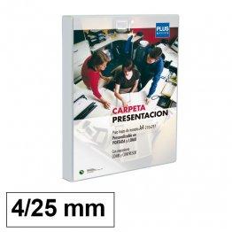Carpeta Canguro Plus Office Cubierta rígida 4 anillas 25mm lomo 40mm