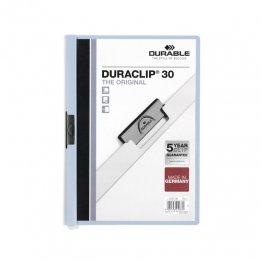Dossier Durable con pinza Duraclip 30 hojas Azul claro