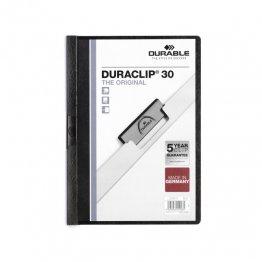 Dossier Durable con pinza Duraclip 30 hojas Negro