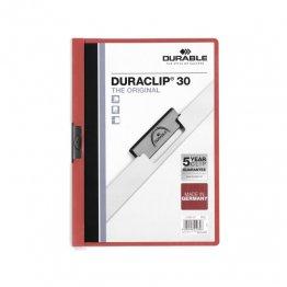 Dossier Durable con pinza Duraclip 30 hojas Rojo