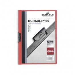 Dossier Durable con pinza Duraclip 60 hojas Rojo