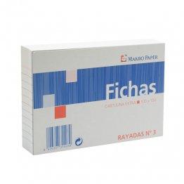 Fichas rayadas Makro Paper 100x150 (100h.)