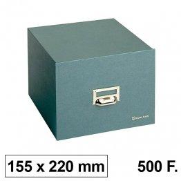 Ficheros de cartón Karman. Tamaño 155x220 para 500 fichas 120x200mm