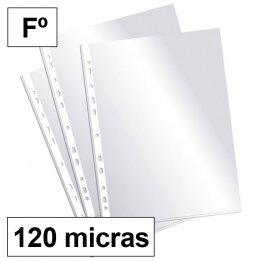 Fundas multitaladro Plus Office Folio-cristal 120 micras