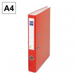 Archivador cartón forrado Plus Office E1R A4 50mm Rojo
