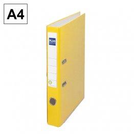 Archivador cartón forrado Plus Office E1R A4 50mm Amarillo