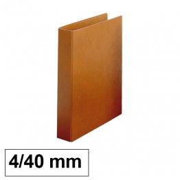 Carpeta Cartón forrado Makro Paper Luxe 4 anillas 40mm folio natural