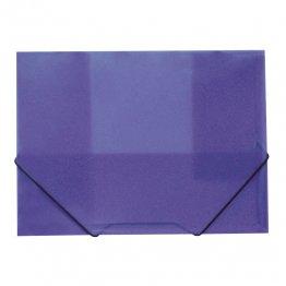 Carpeta A4 gomas y solapas traslúcida violeta
