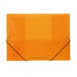 Carpeta A4 gomas y solapas traslúcida naranja